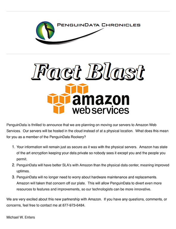 Fact Blast, Amazon Web Services